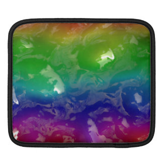 Psychedelic Rainbow Jellied Ooze iPad Sleeve