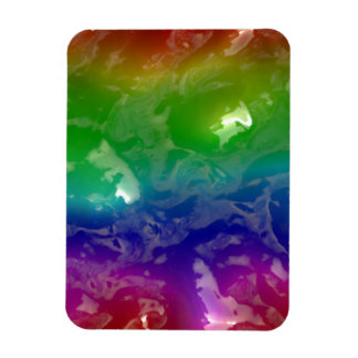 Psychedelic Rainbow Jellied Ooze Magnet