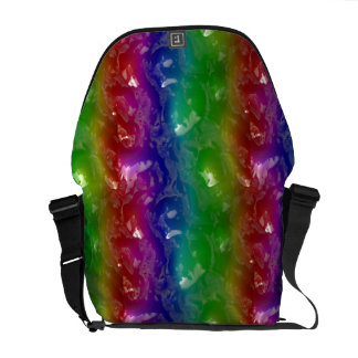 Psychedelic Rainbow Jellied Ooze Messenger Bag