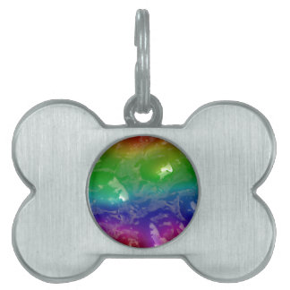 Psychedelic Rainbow Jellied Ooze Pet Name Tag
