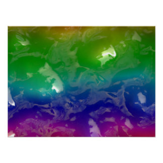 Psychedelic Rainbow Jellied Ooze Poster