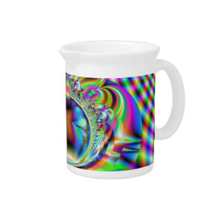 Psychedelic Rainbow Laser Beams Fractal Pitcher