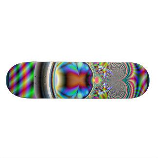 Psychedelic Rainbow Laser Beams Fractal Skateboard