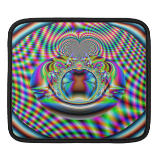 Psychedelic Rainbow Laser Beams Fractal Sleeve For iPads
