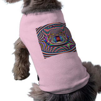 Psychedelic Rainbow Laser Beams Fractal T-Shirt