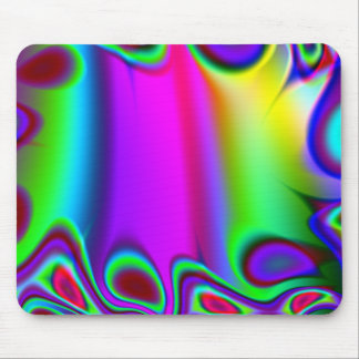 Psychedelic Rainbow Mouse Pad