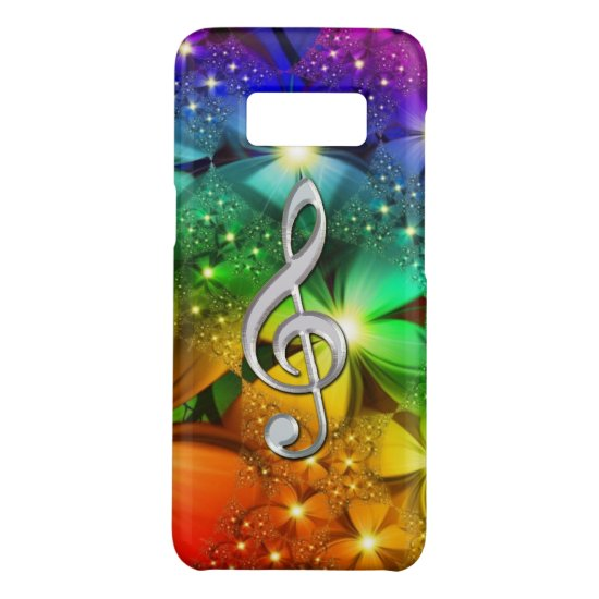 Psychedelic Rainbow Music Clef Case-Mate Samsung Galaxy S8 Case