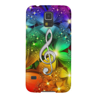 Psychedelic Rainbow Music Clef Galaxy S5 Case
