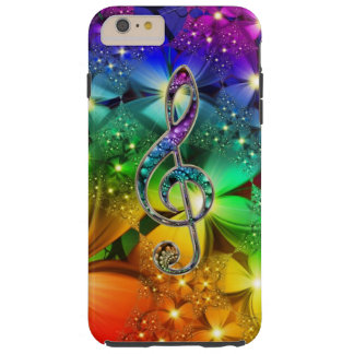 Psychedelic Rainbow Music Clef iPhone 6 Case