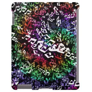 Psychedelic Rainbow Musical Notes iPad Case