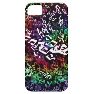 Psychedelic Rainbow Musical Notes iPhone Case