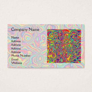 Psychedelic Rainbow Oil Pattern Business Card