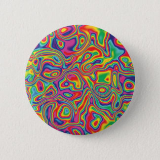 Psychedelic Rainbow Oil Pattern Button
