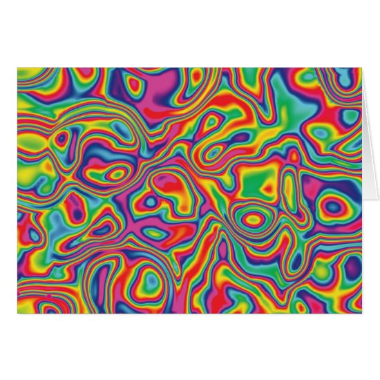 Psychedelic Rainbow Oil Pattern Card
