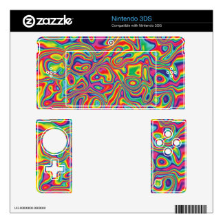 Psychedelic Rainbow Oil Pattern Decal For The 3DS