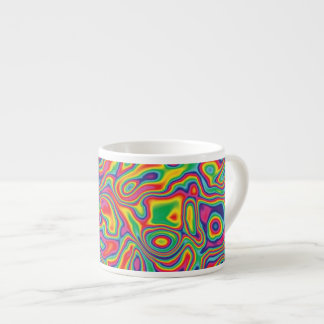 Psychedelic Rainbow Oil Pattern Espresso Cup