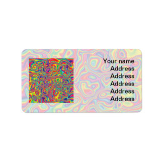 Psychedelic Rainbow Oil Pattern Label