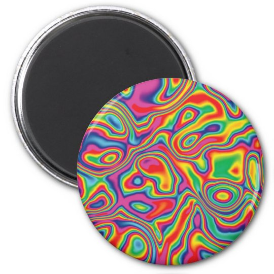 Psychedelic Rainbow Oil Pattern Magnet