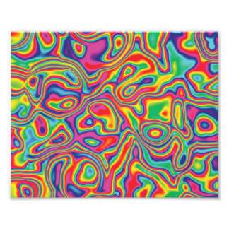 Psychedelic Rainbow Oil Pattern Photographic Print