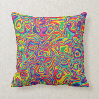 Psychedelic Rainbow Oil Pattern Throw Pillow