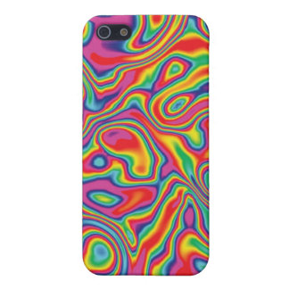 Psychedelic Rainbow Oil Pern Cover For iPhone SE/5/5s