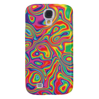 Psychedelic Rainbow Oil Pern Galaxy S4 Cover