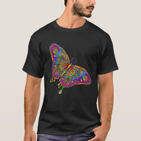 Psychedelic Rainbow Paisley Butterfly T-Shirt