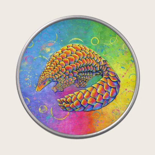 Psychedelic Rainbow Pangolin Candy Tin