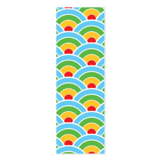 Psychedelic rainbow pattern business cards
