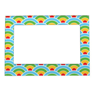 Psychedelic rainbow pattern magnetic frame