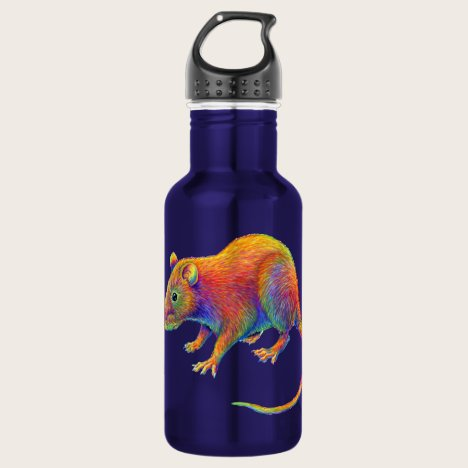 Psychedelic Rainbow Rat Water Bottle