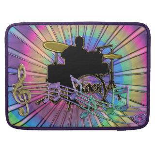 Psychedelic Rainbow Retro Tie-Dye Drummer Sleeve Sleeves For MacBook Pro