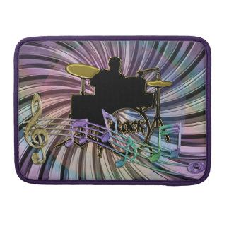 Psychedelic Rainbow Rock Drummer Sleeve MacBook Pro Sleeves