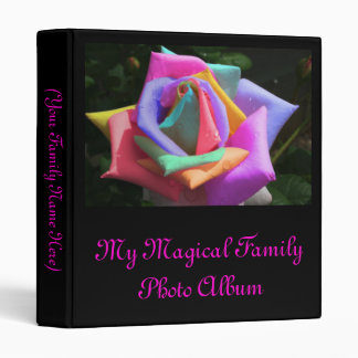 Psychedelic Rainbow Rose Binder