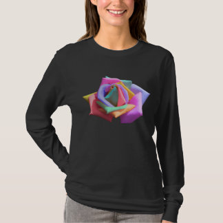 Psychedelic Rainbow Rose T-Shirt
