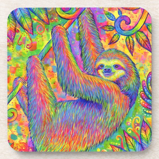 Psychedelic Rainbow Sloth Collection