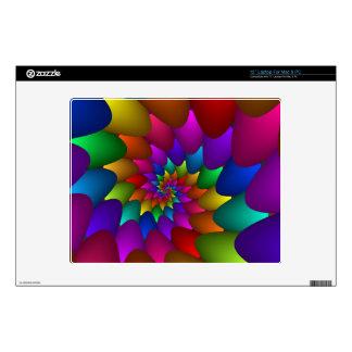 "Psychedelic Rainbow Spiral 12"" Laptop Decals"