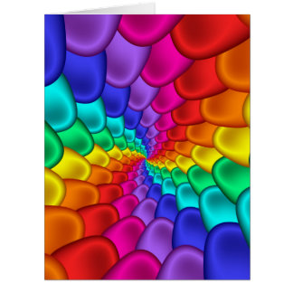Psychedelic Rainbow Spiral Big Greeting Card