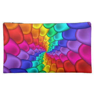 Psychedelic Rainbow Spiral Cosmetic Bag