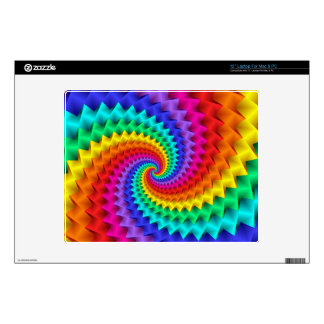 Psychedelic Rainbow Spiral Laptop Skin