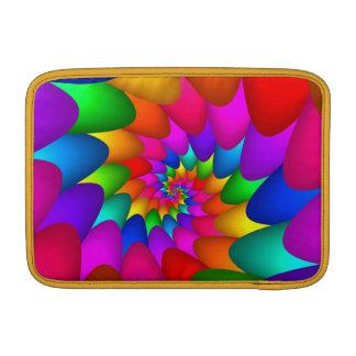 "Psychedelic Rainbow Spiral Macbook Air 11"" Sleeve For MacBook Air"