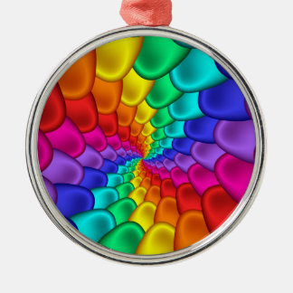 Psychedelic Rainbow Spiral Ornament
