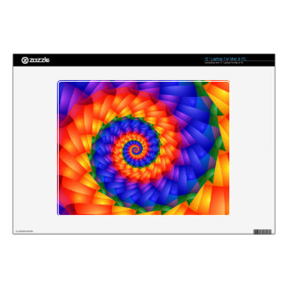 """Psychedelic Rainbow Spiral Skins For 12"""" Laptops"""