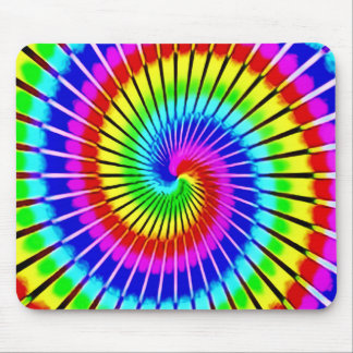 Psychedelic Rainbow Spiral Staircase Pattern Mouse Pad