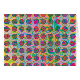 Psychedelic Rainbow Spots Pattern Card