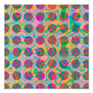 Psychedelic Rainbow Spots Pattern Photo Print