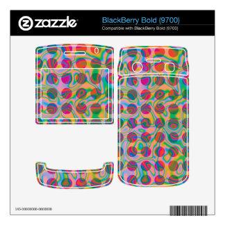 Psychedelic Rainbow Spots Pattern BlackBerry Decals