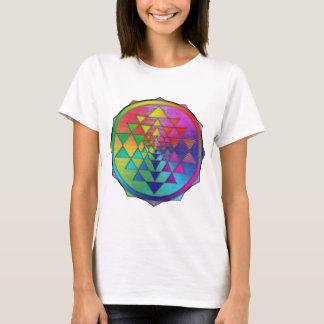 Psychedelic Rainbow Sri Yantra for Prosperity T-Shirt