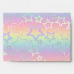 Psychedelic Rainbow Stars Envelopes