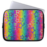 Psychedelic Rainbow Stars Laptop Computer Sleeve